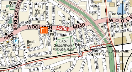 Woolwich Map
